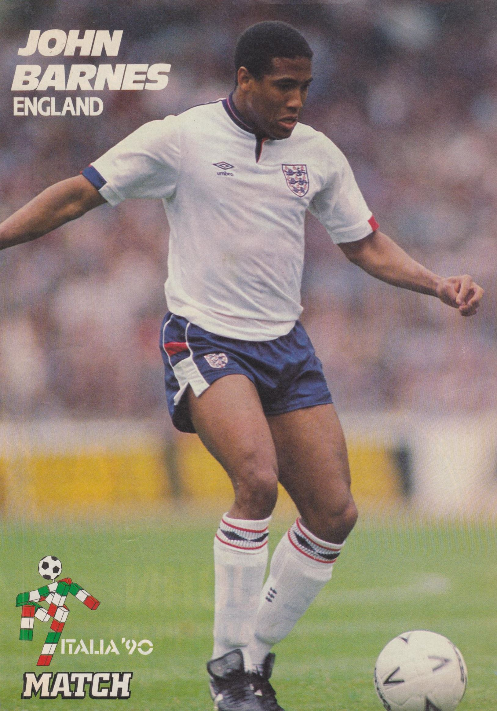 Match poster of England's Barnes - World Cup 1990