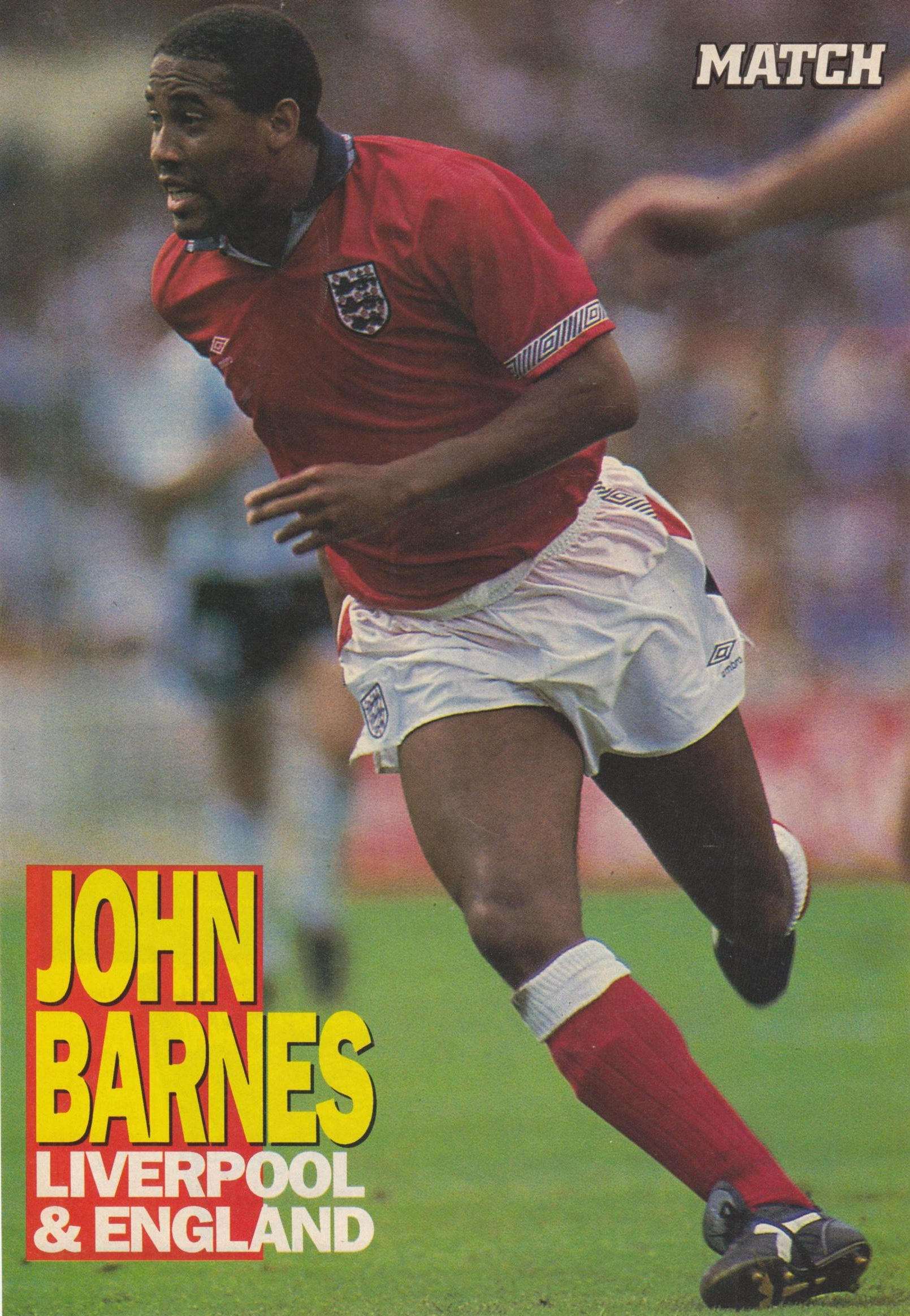 Match poster of Barnes in England's red