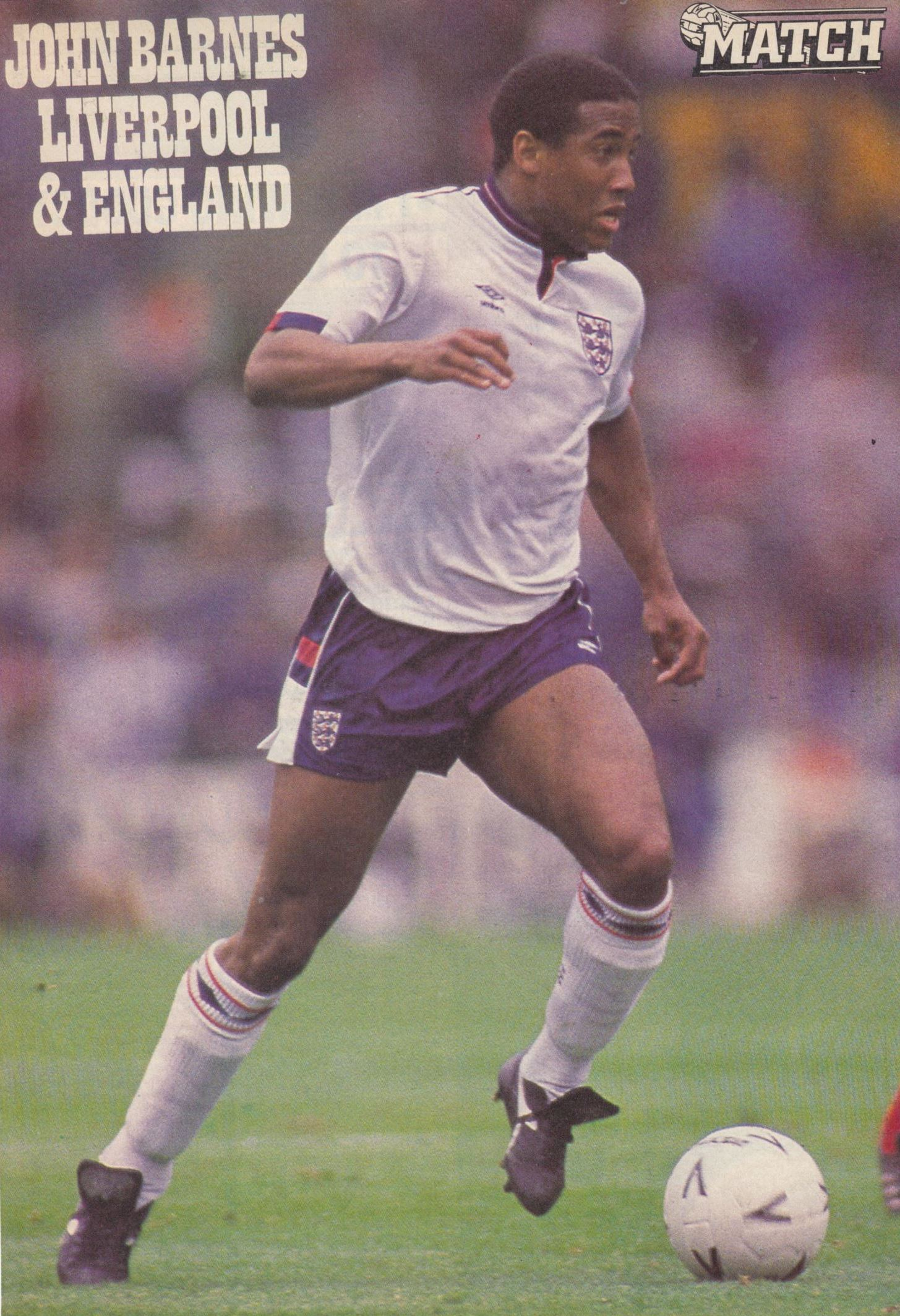 Match poster of Barnes in England's white