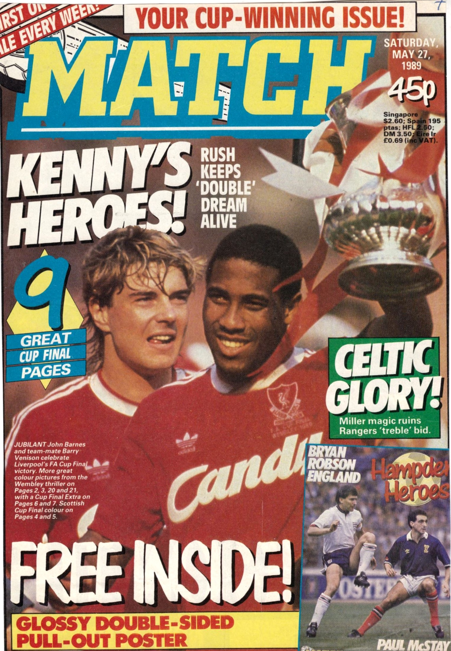 Match cover on 27 May 1989