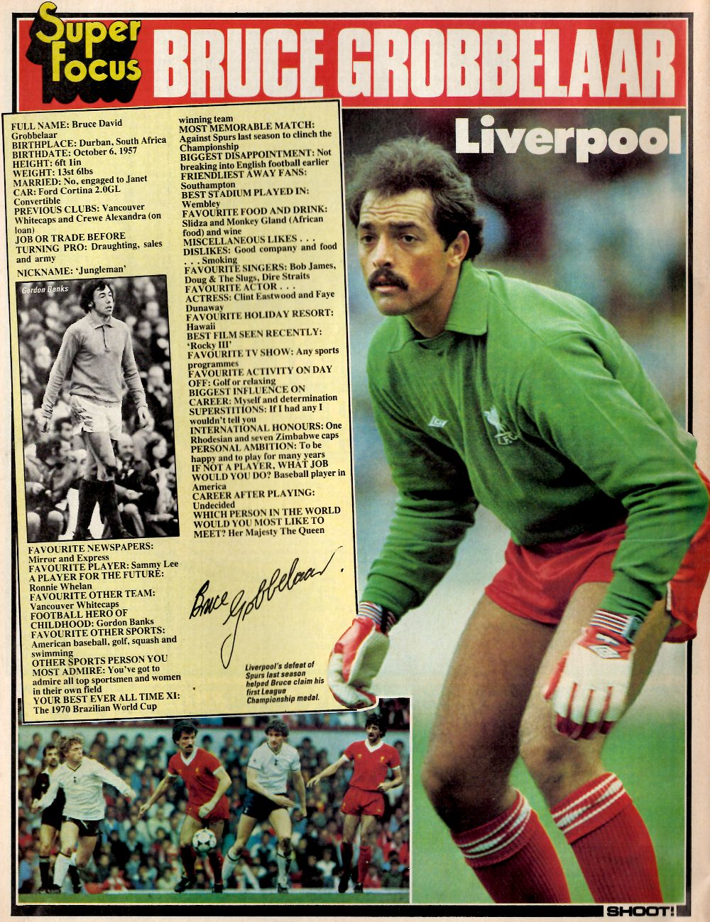 Super focus on Bruce Grobbelaar