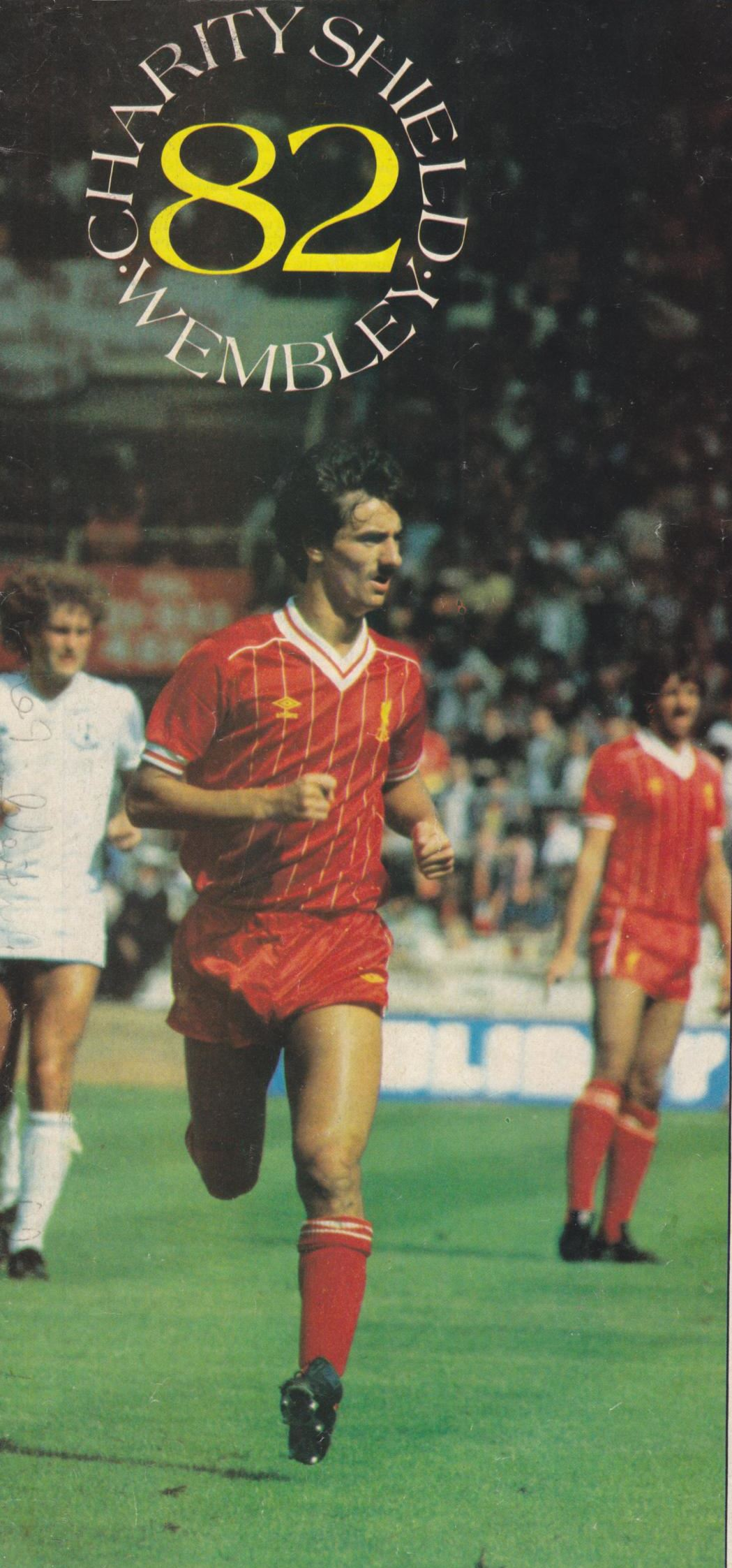 Rush in action in Charity shield 1982