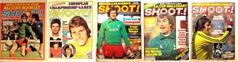 Ray Clemence on the cover of Shoot! 1971-1982