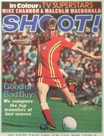 Joey Jones on the cover of Shoot! 23 July 1977