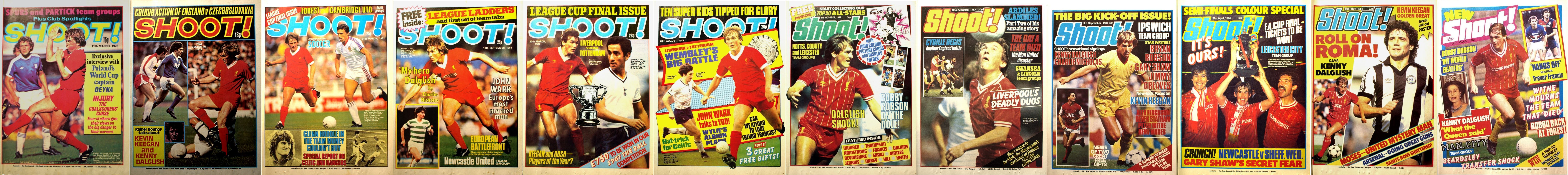 Kenny Dalglish on the cover of Shoot! 1978-1985