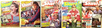 Kenny Dalglish on the cover of Shoot! as boss 1985-1989