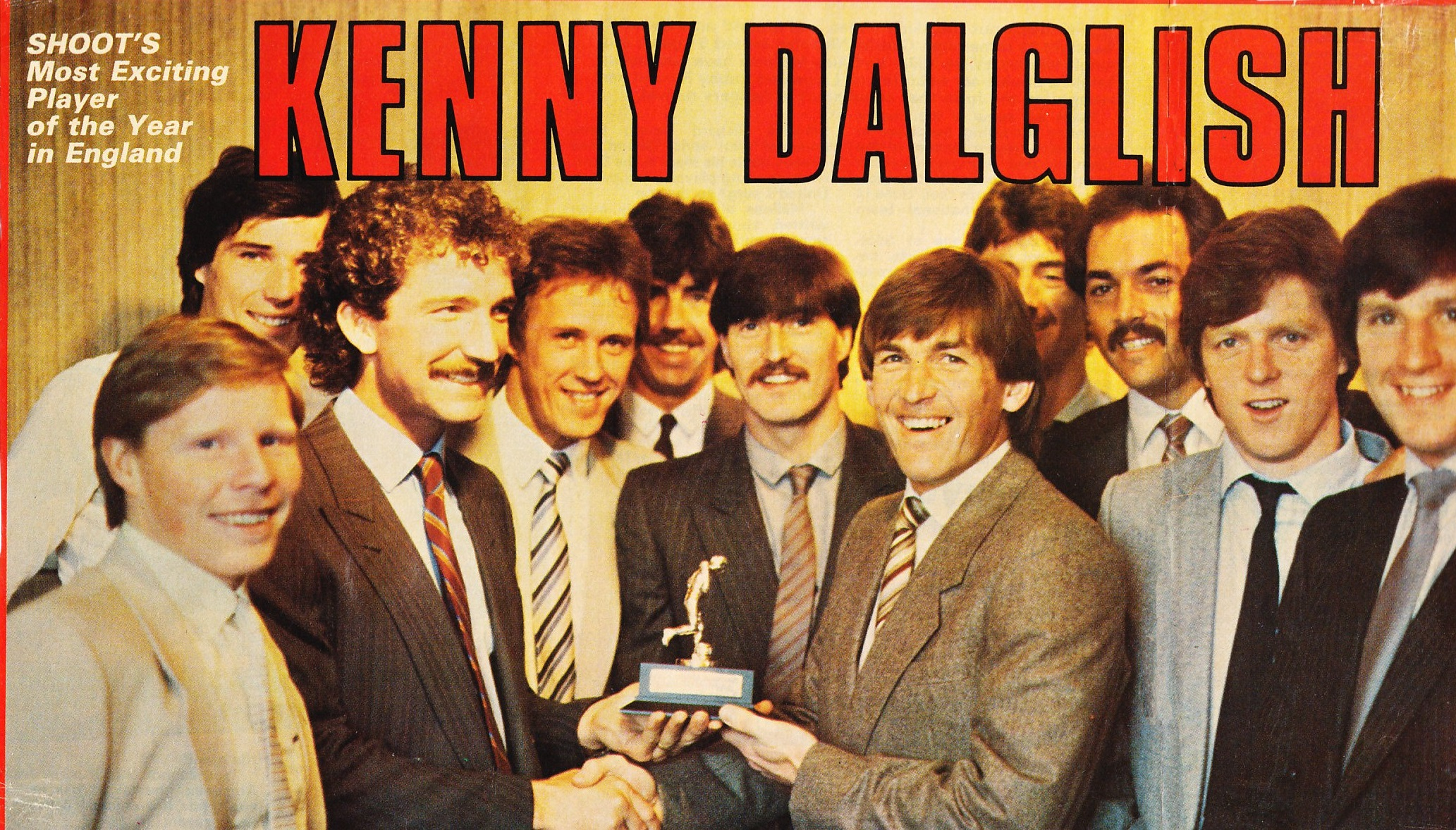 Kenny voted the most exciting player of the year in England in 1983
