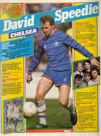 Focus on Chelsea's David Speedie