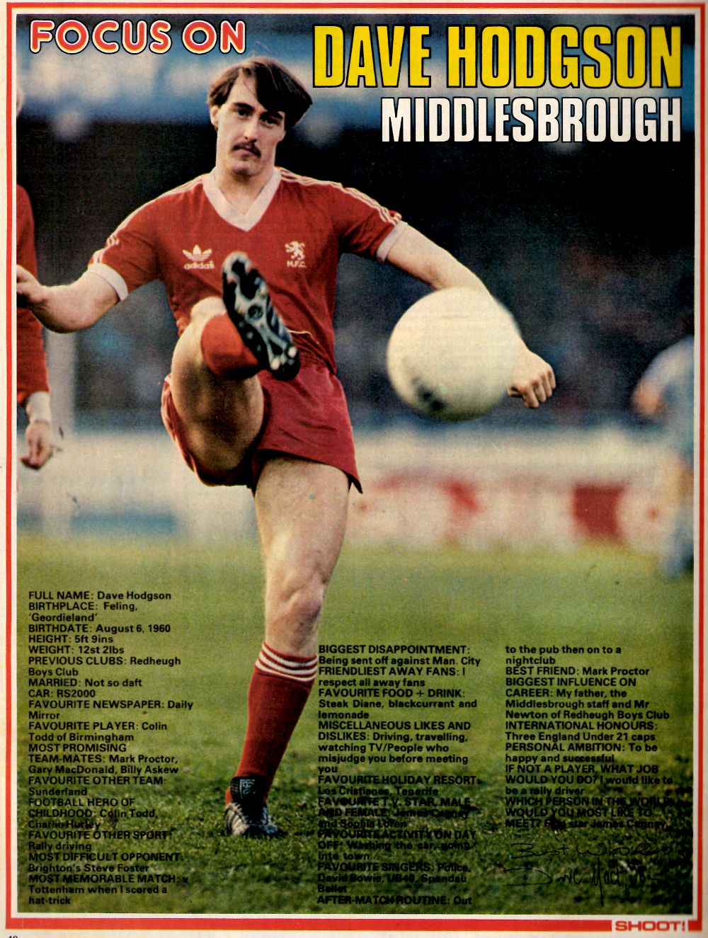 Focus on Middlesbrough's Dave Hodgson