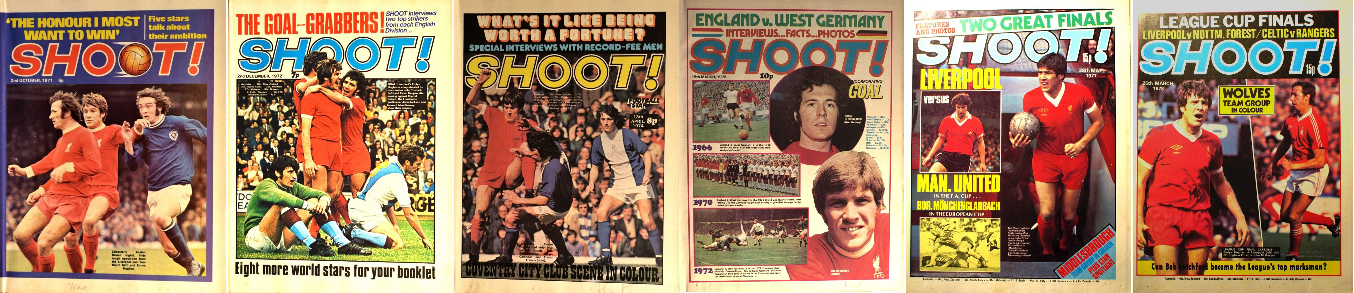 Emlyn Hughes on the cover of Shoot! 1971-1978
