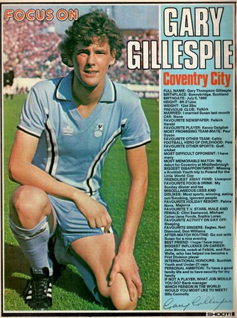 Focus on Coventry's Gary Gillespie
