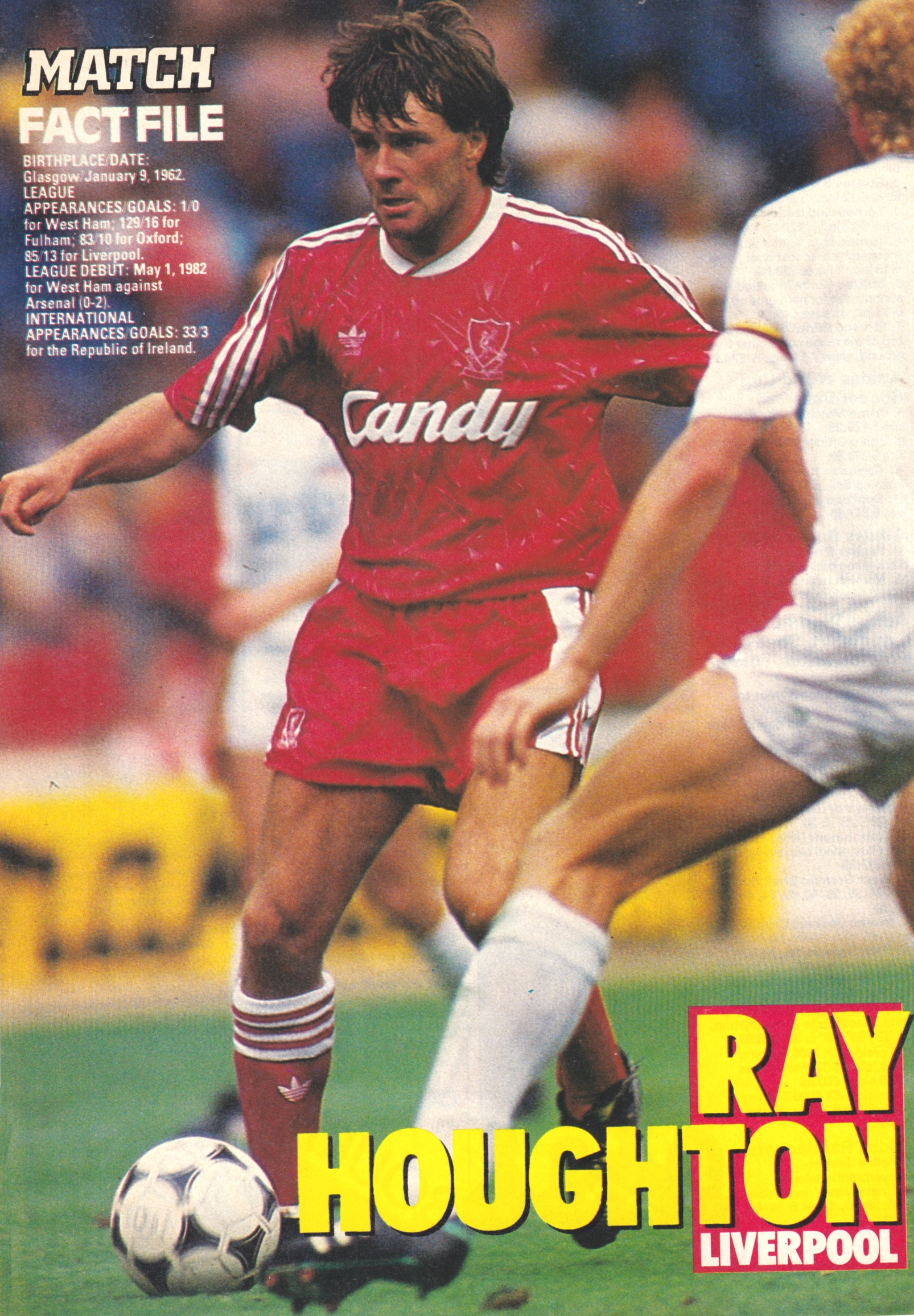Match factfile - Ray Houghton 1990/91
