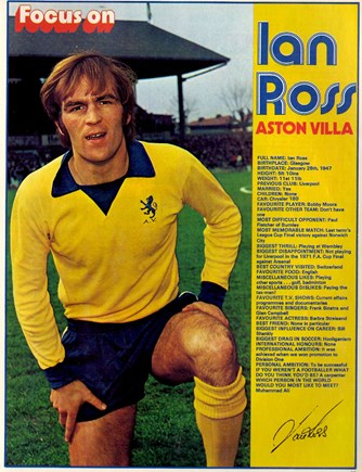 Focus on Aston Villa's Ian Ross