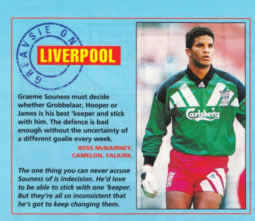Souness must decide on his main keeper - 1993