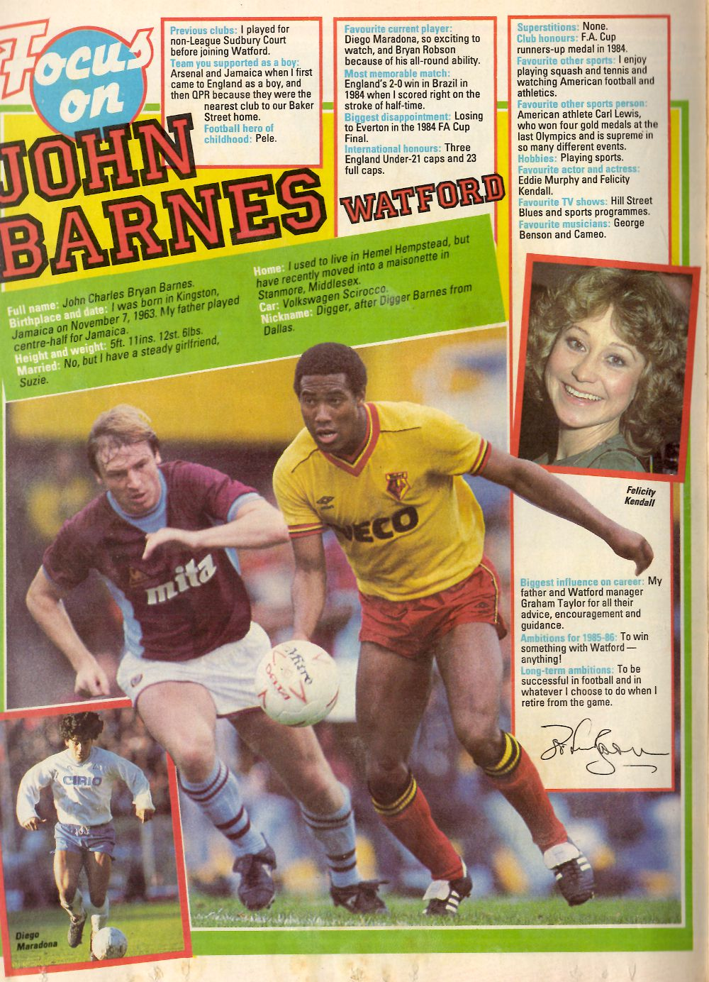 Focus on Watford's John Barnes