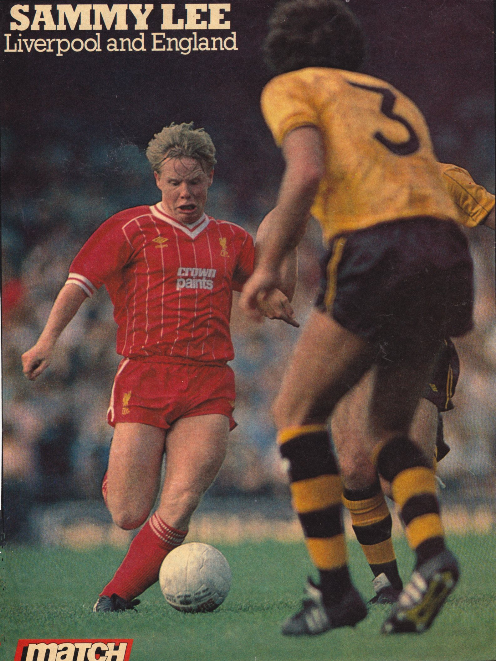 Match poster pf Sammy Lee - 1983/84 season