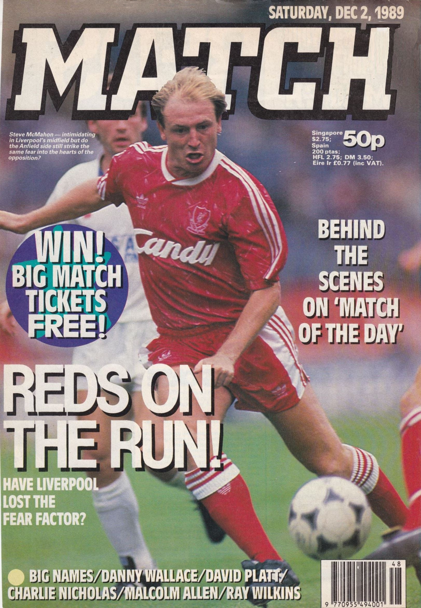 Match cover on 2 December 1989