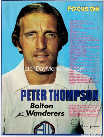 Focus on Bolton's Peter Thompson