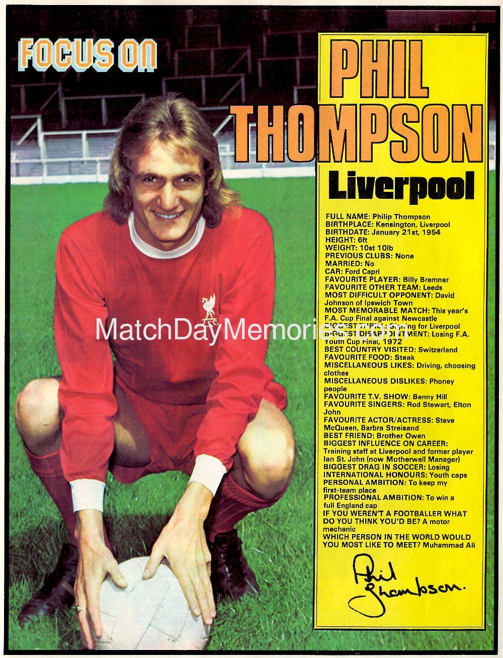 Focus on Phil Thompson