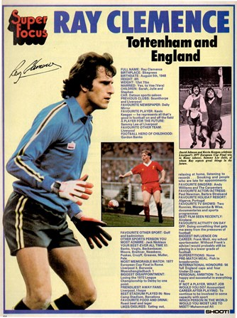 Super Focus on Tottenham's and England's Ray Clemence
