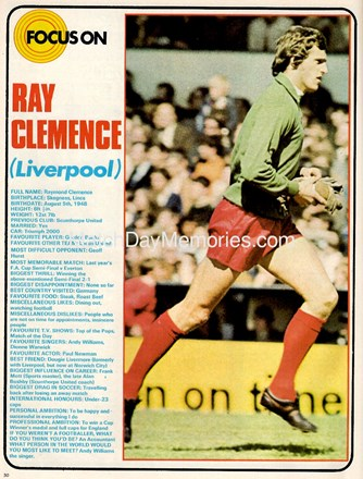 Focus on Ray Clemence