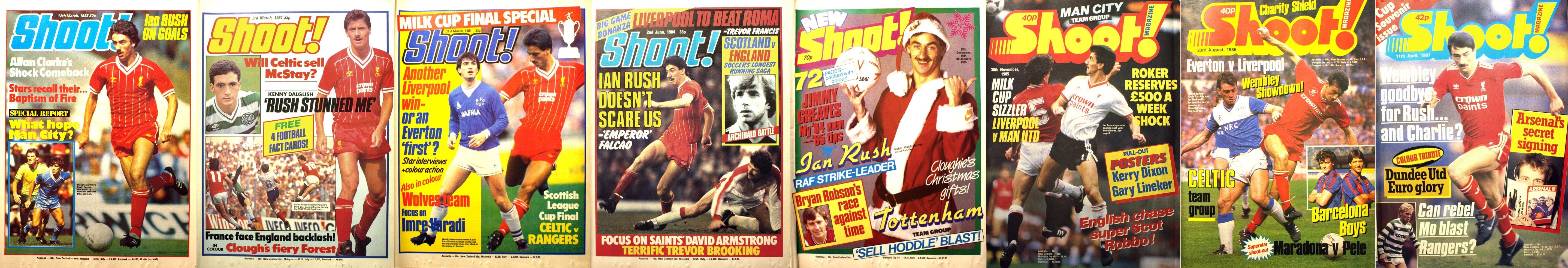Ian Rush on the cover of Shoot! 1983-1987