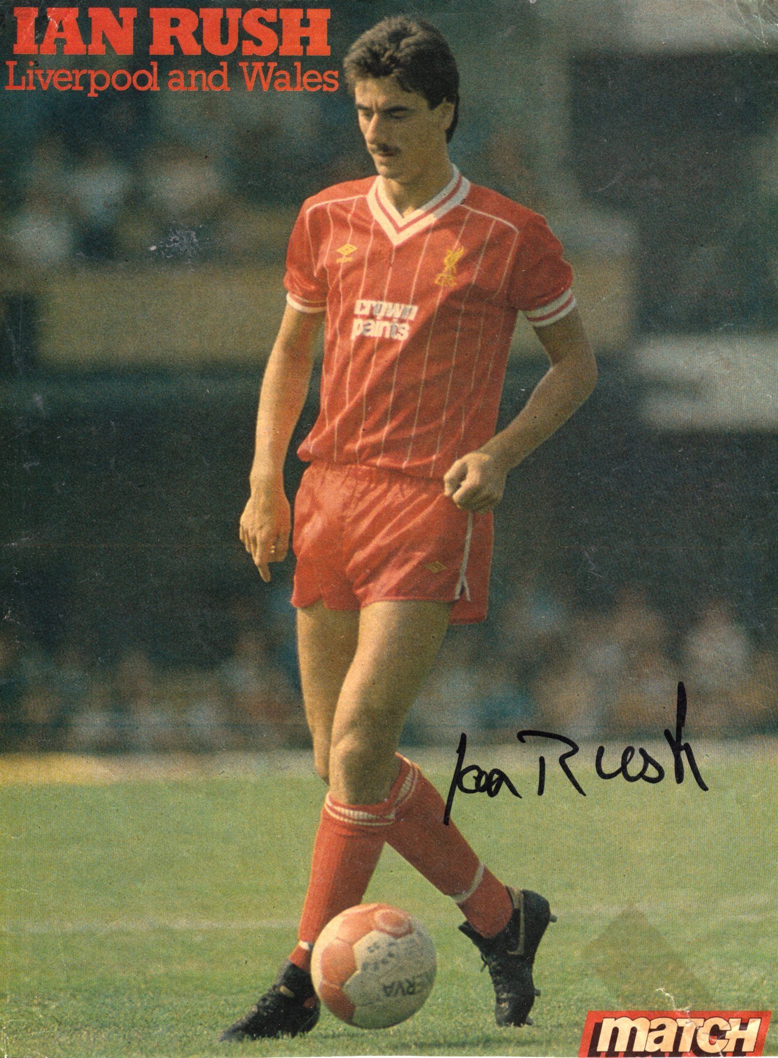 Ian Rush Retro Liverpool Football Player Photo Poster Sport Star Picture Print