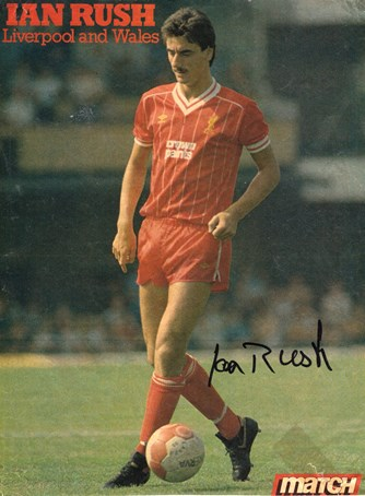 1983 Match poster of Ian Rush