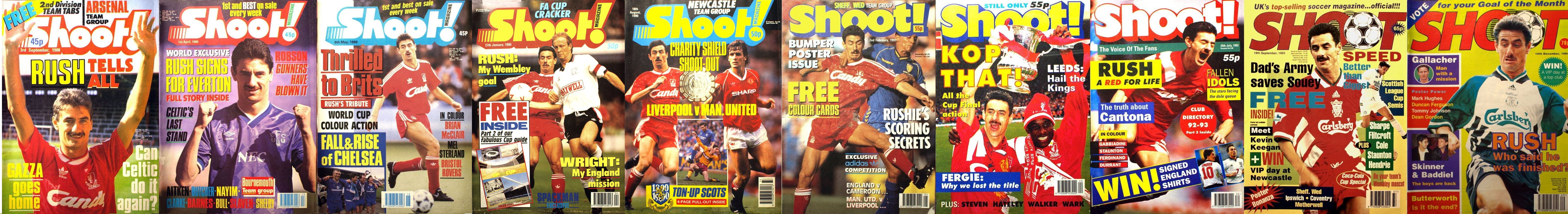 Ian Rush on the cover of Shoot! 1988-1994