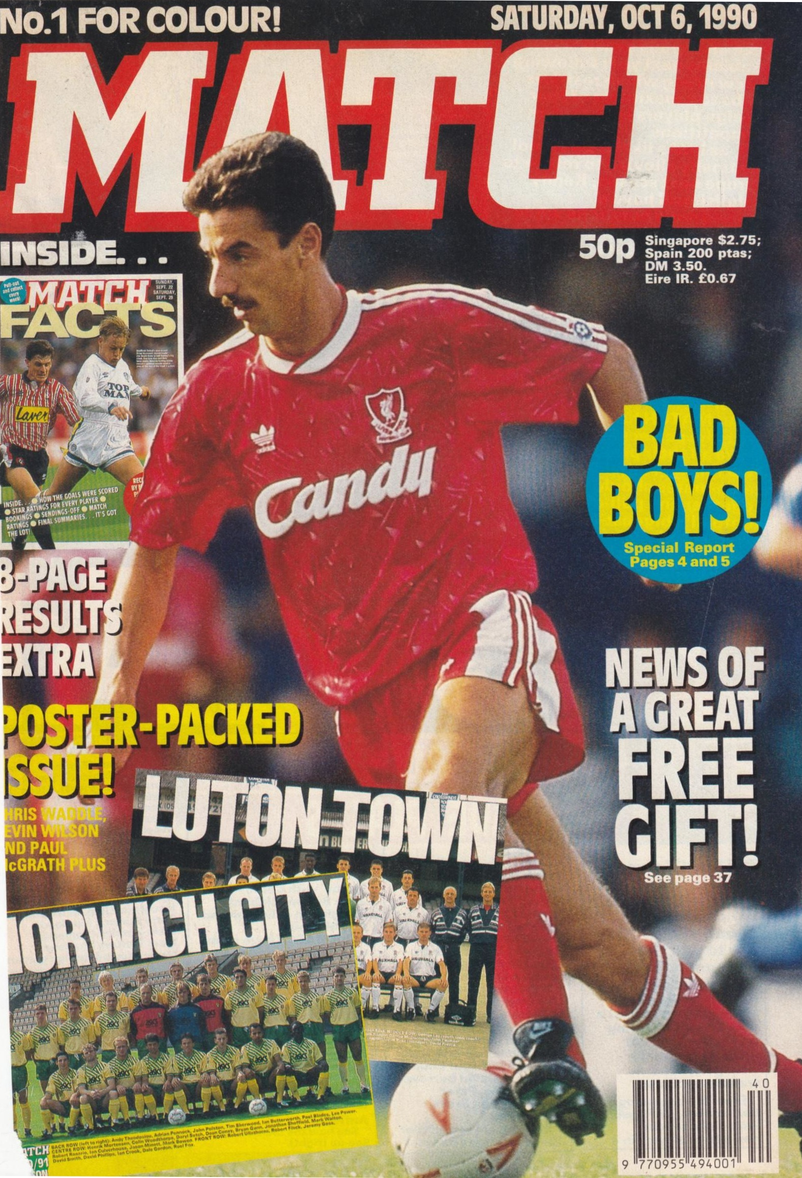 Match cover 6 October 1990
