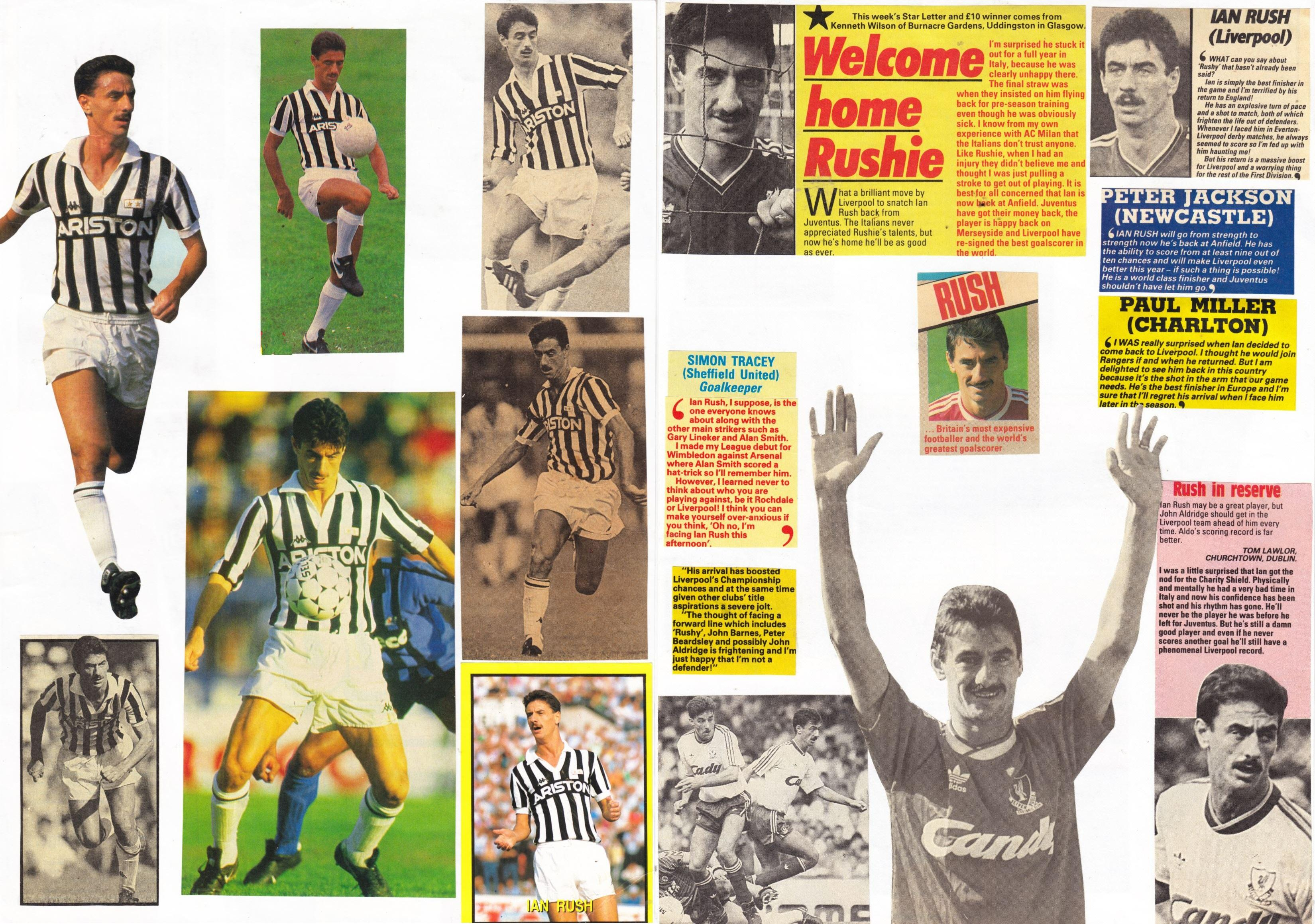 Pages from Arnie's scrapbook (editor of LFChistory.net)