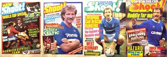 Graeme Souness on the cover of Shoot! 1985-1987
