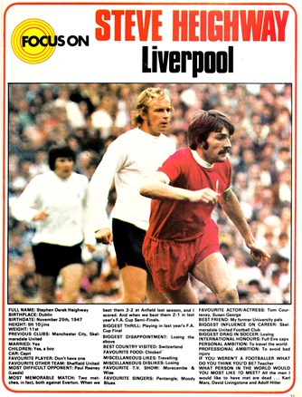 Steve Heighway in Focus