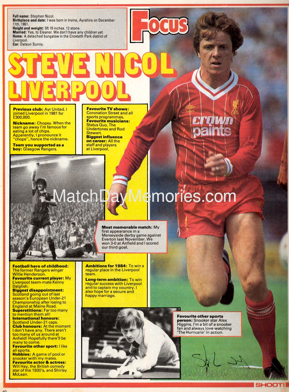 Focus on Steve Nicol