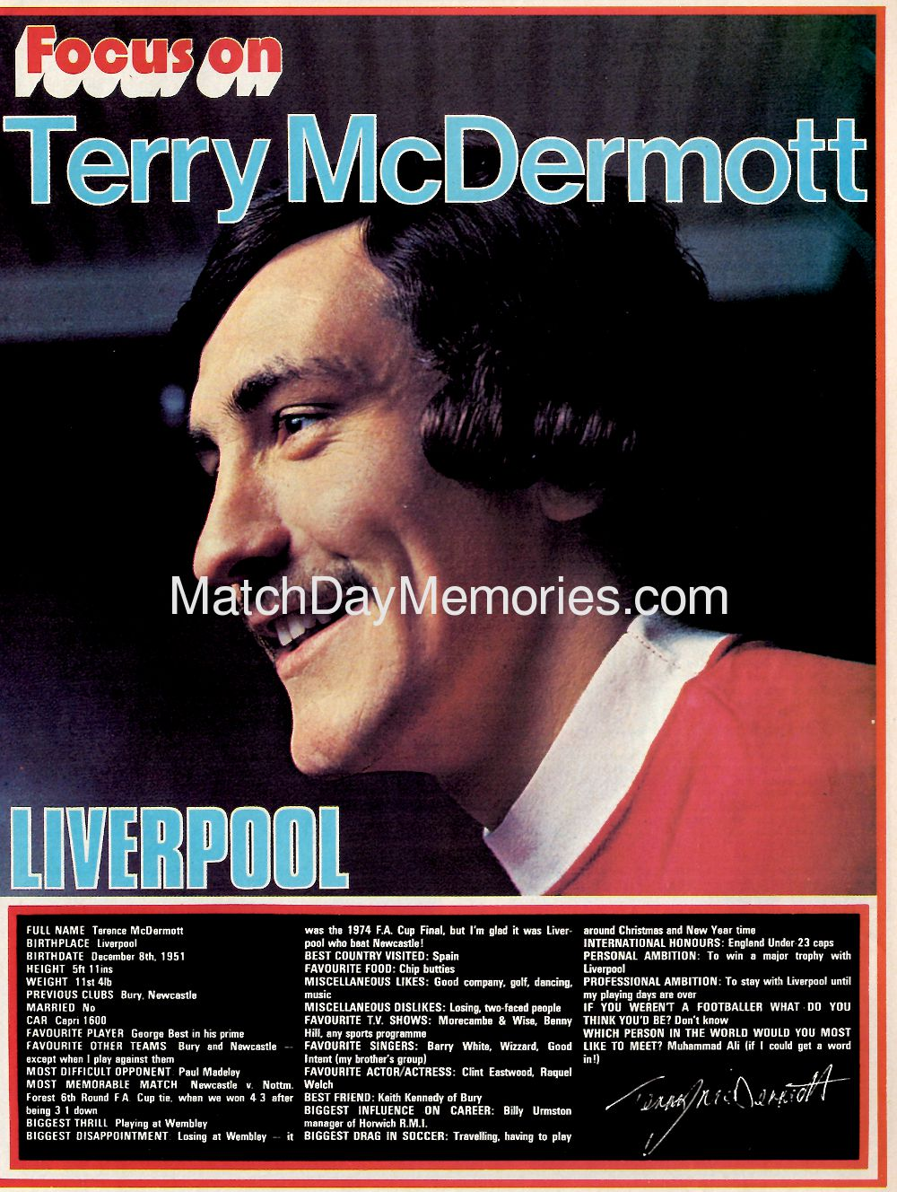 Focus on Terry McDermott
