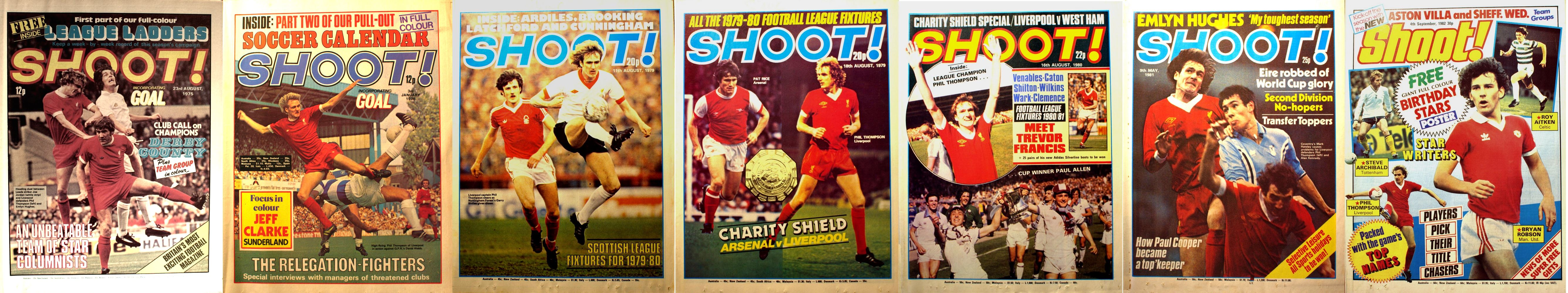 Phil Thompson on the cover of Shoot! 1975-1982