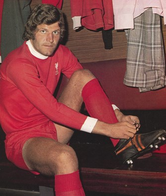 Poster of John Toshack getting ready at the start of his Liverpool career