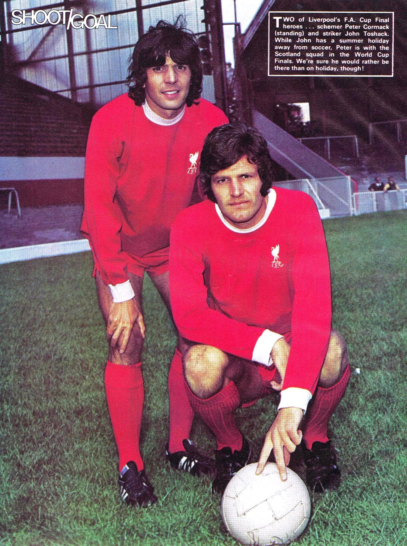 Poster of Peter Cormack and John Toshack in Shoot!/Goal 1974