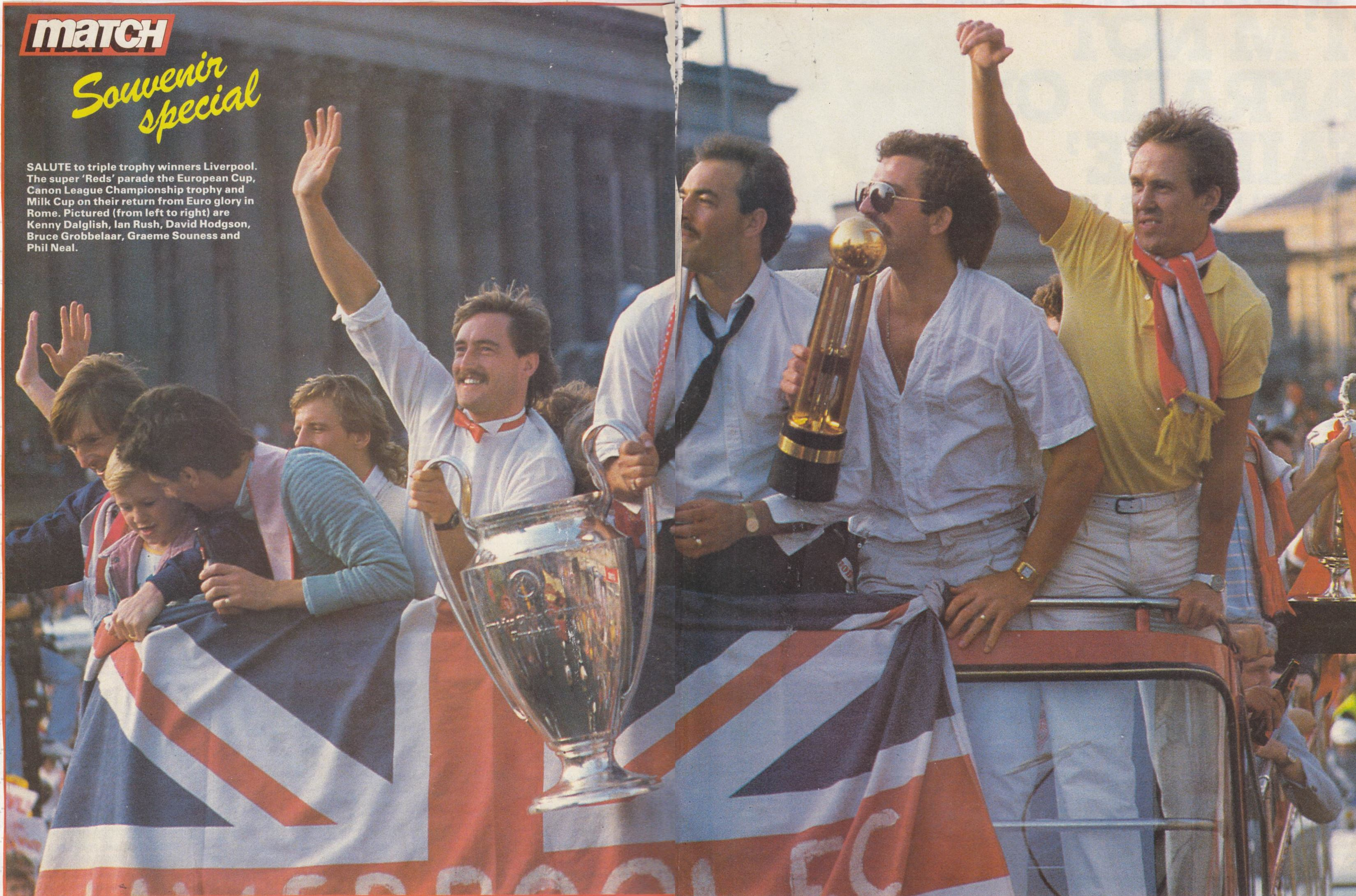 Salute to the treble winners! - Match May1984