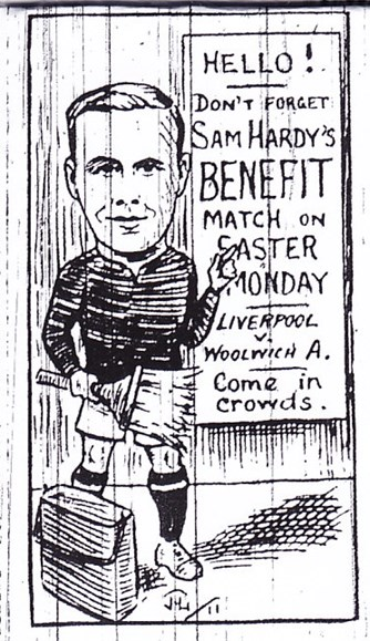 Sketch from Liverpool Echo - Don't forget Sam Hardy's benefit