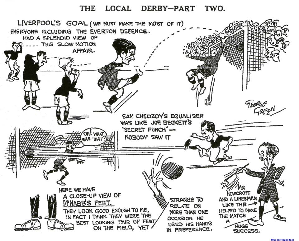 Liverpool Echo sketch - 13 October 1923