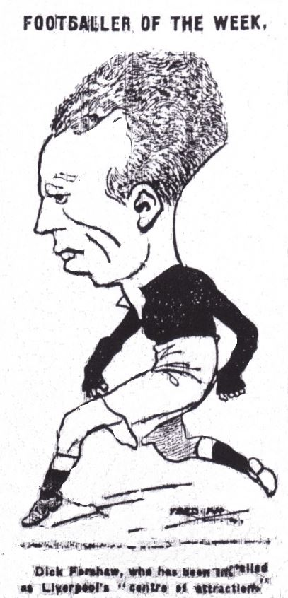 Profile sketch from Liverpool Echo - 1924/25