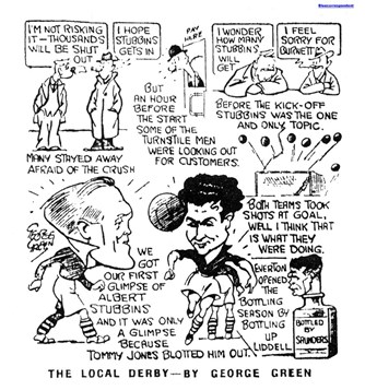 Liverpool Echo sketch - 21 September 1946