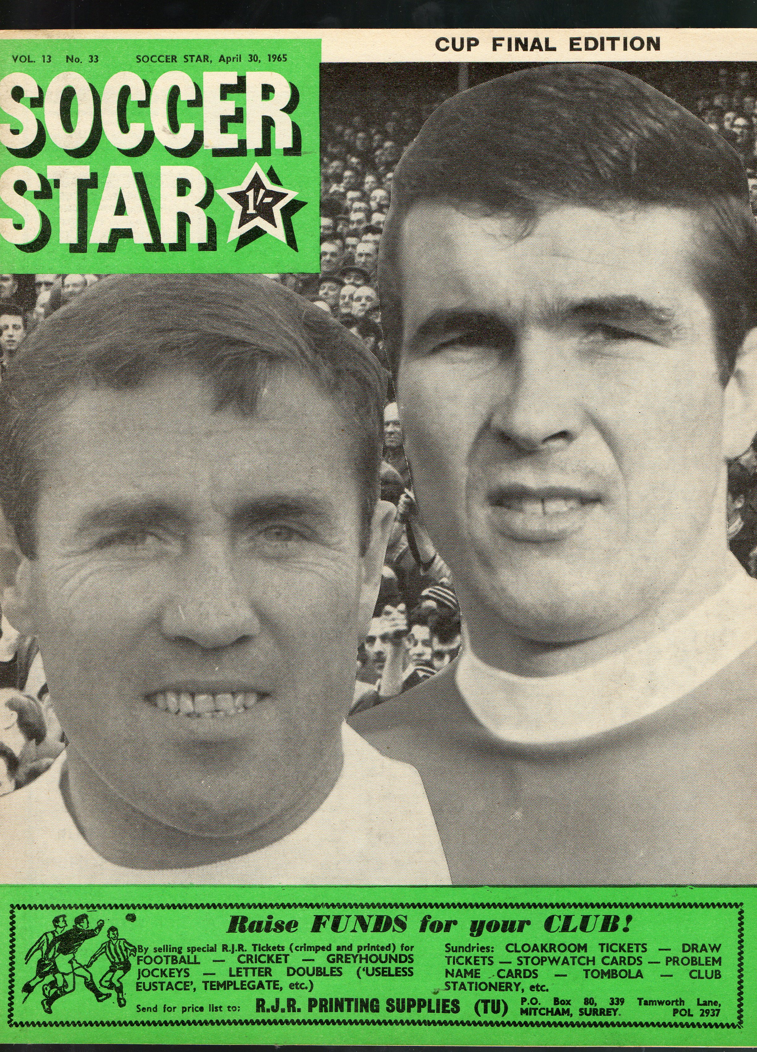 Big Ron on the cover of Soccerstar - 30 April 1965