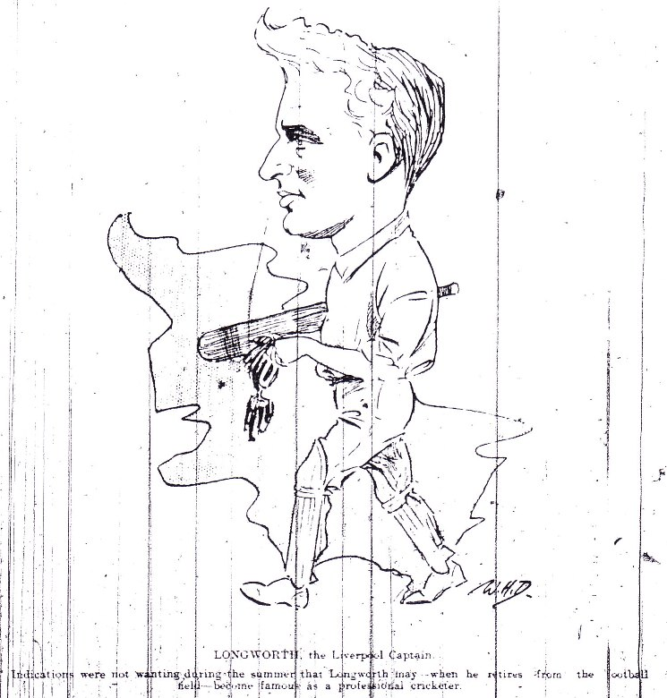 Longworth enjoyed cricket in the summer - Sketch 1912-13