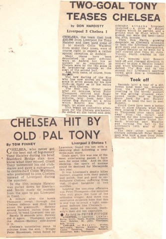 Chelsea hit by old pal Tony - from 9 September 1967