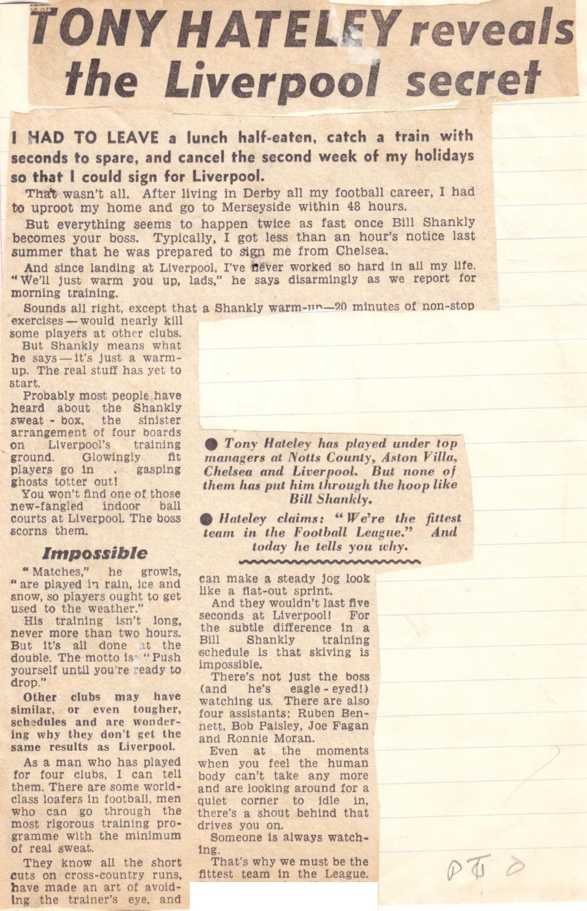 Hateley reveals the Liverpool secret