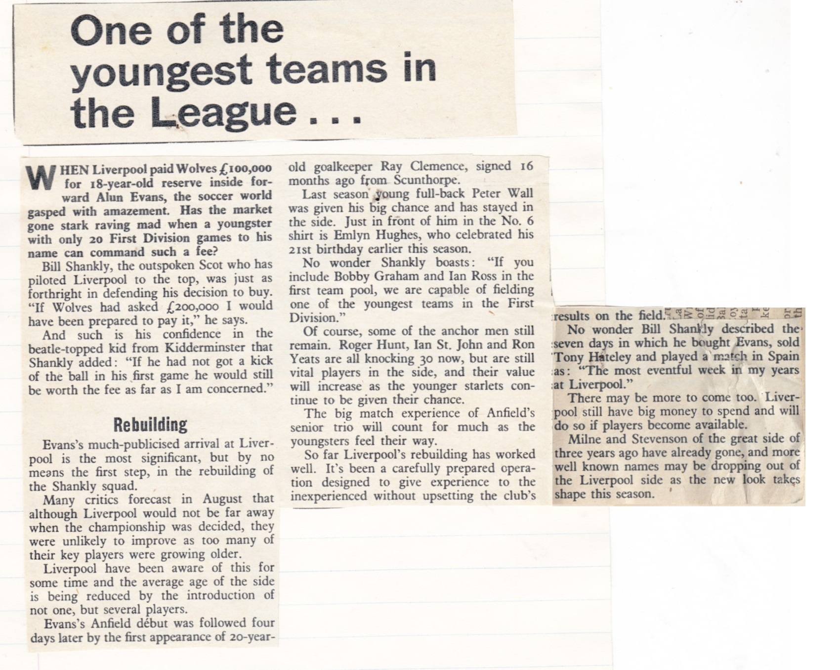I would have paid 200,000 pounds, says Shankly - 1968