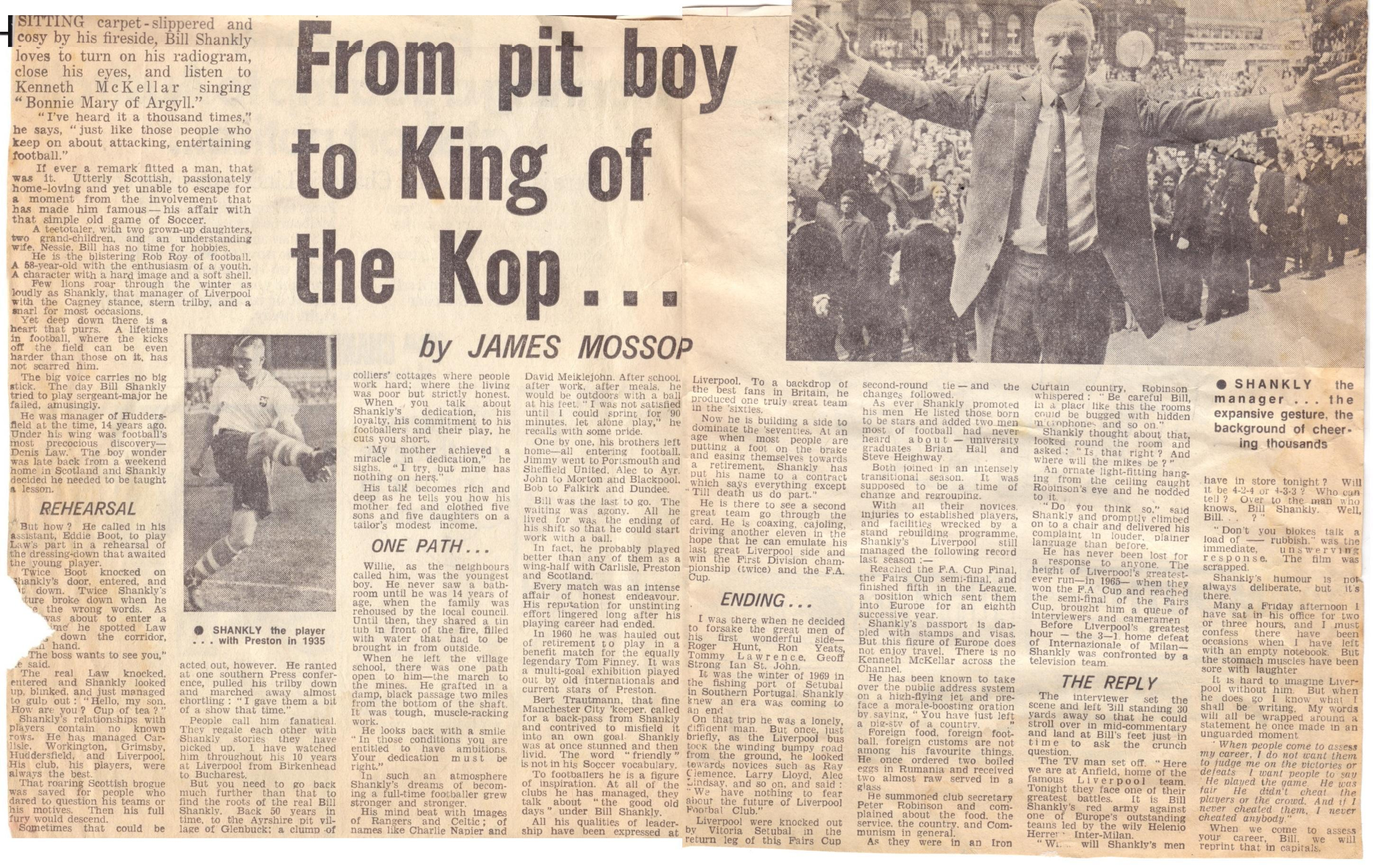 From pit boy to King of the Kop - 1969/70