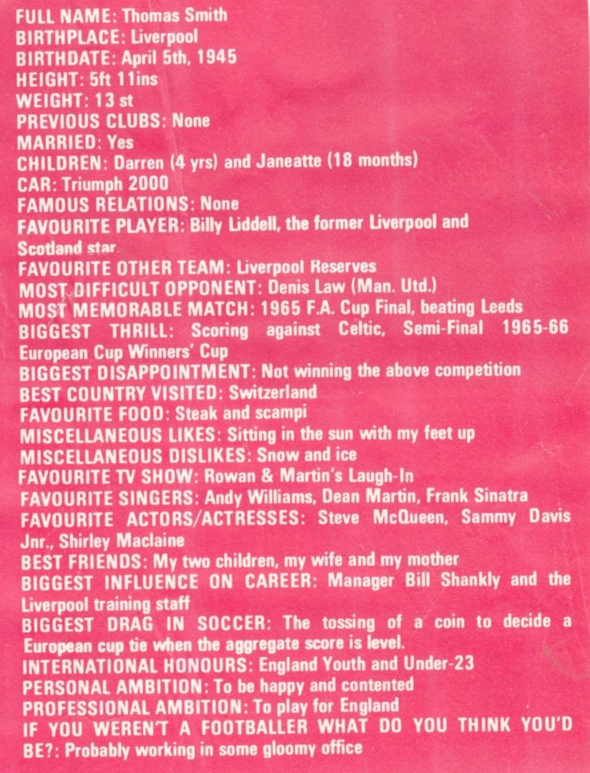 Focus from the 1969/70 season